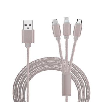 3 in 1 universal kabel grijs