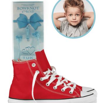 bowknot headphone blauw 2