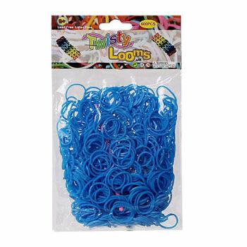 twisty looms blauw bewerkt