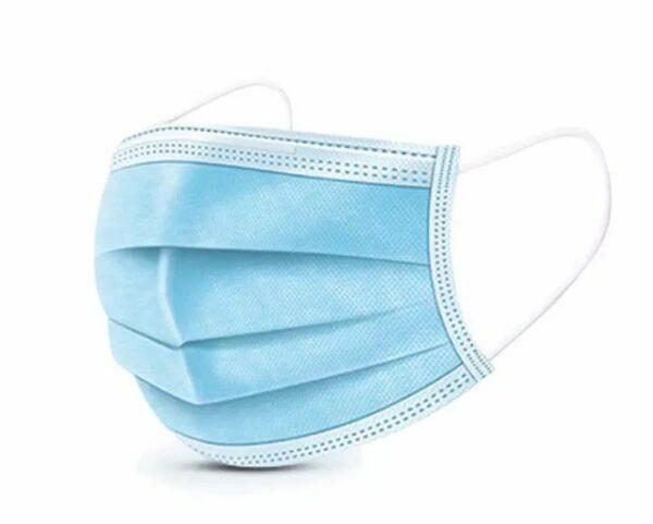 3 laags wegwerp mondkapjes - 50 stuks - blauw